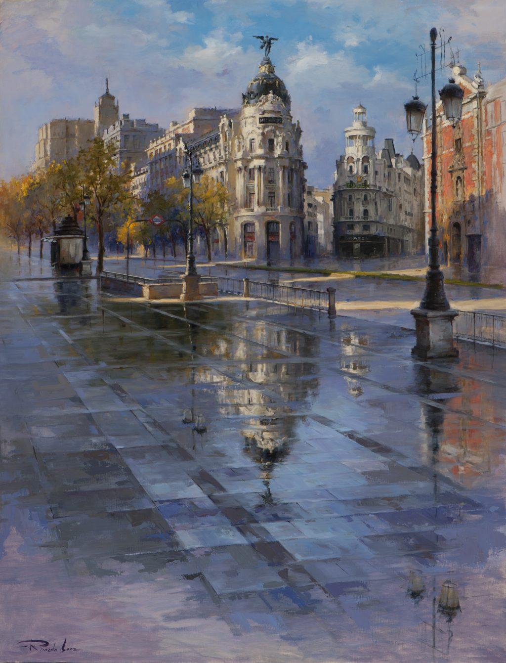 Luz de mañana en la calle de Alcalá 116X89cm